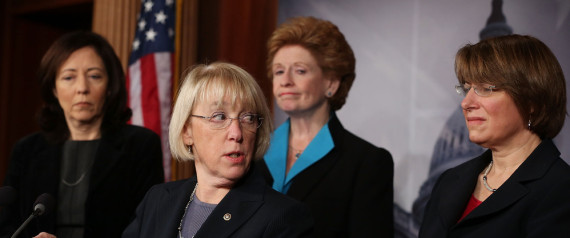 Female Democrats Hold News Conference On Violence Against Women Legislation